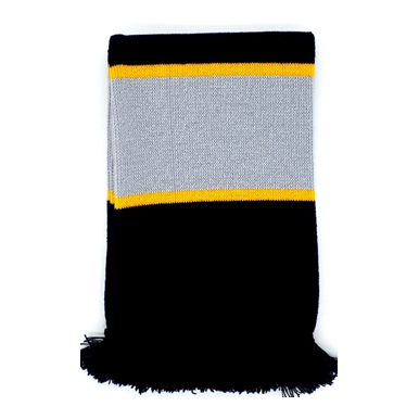 Plain-knit stripe knit Scarves