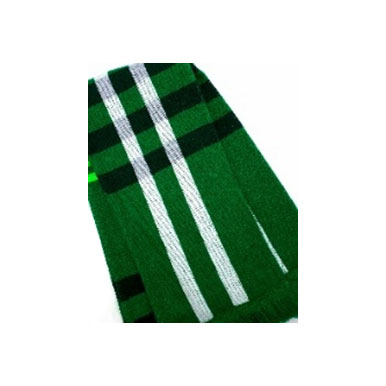 Plain-knit stripe knit Scarves 1